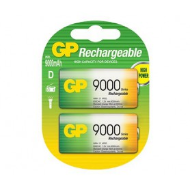 GP - GP 1.2V D / HR20 9000mAh NiMh rechargeable battery - Size C D and XL - BS106-CB