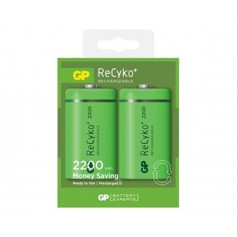 GP - 2x GP Recyko+ 1.2V D / HR20 2200mAh NiMh rechargeable battery - Size C D and XL - BS107-CB