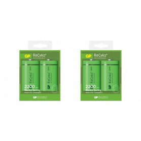 GP - GP Recyko+ 1.2V D / HR20 2200mAh NiMh rechargeable battery - Size C D and XL - BS107-CB www.NedRo.us
