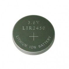 BSE LIR2450 3.6V 120mAh rechargeable Li-ion button cell battery