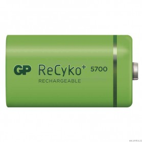 GP - GP Recyko+ 1.2V D / HR20 5700mAh NiMh rechargeable battery - Size C D and XL - BS108-CB www.NedRo.us