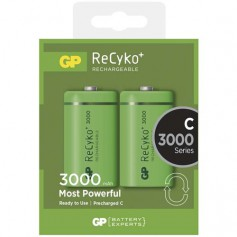 GP - GP 1.2V C/HR14 3000mah NiMh 3000 Series rechargeable battery - Size C D and XL - BS115-CB