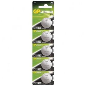 GP - GP CR2450, DL2450, ECR2450 3V Lithium button cell battery - 5 Pieces - Button cells - BS121-CB