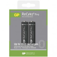 GP - Duo GP R6/AA ReCyko+ PRO 2000mAh 1.2V NiMH Rechargeable Batteries - Size AA - BS123-CB
