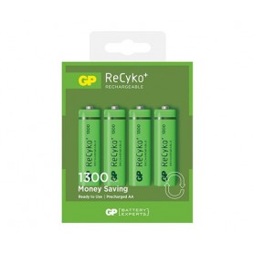 GP, GP ReCyco+ AA / Mignon / HR6 / LR6 1300mAh Rechargeable Battery - 1300 Series, Size AA, BS125-CB