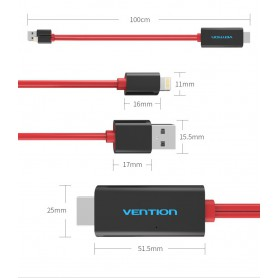 Vention - VENTION PREMIUM HDMI adapter for iPhone 7 7 Plus 6s 6s Plus iPad - iPhone data cables  - V035 www.NedRo.us