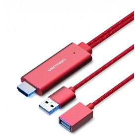 Vention - USB to HDMI Converter Adapter Cable VENTION PREMIUM - Samsung data cables  - V036-CB www.NedRo.us