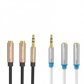 Vention, Dual 3.5mm Female to Male Audio Jack 3.5mm Y Splitter, Audio adapters, V040-CB, EtronixCenter.com