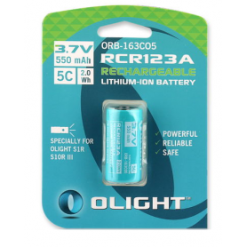 OLIGHT - Rechargeable battery Olight RCR123A special for S1R and S10RIII 550mAh 3.7V - Other formats - NK374-CB www.NedRo.us