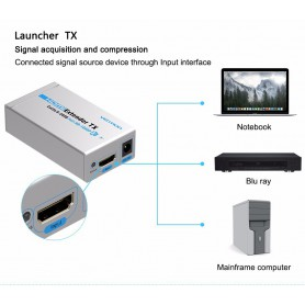 Vention, Double Vention 60M HDMI Ethernet Extender TX With Launcher Receiver Cat5/6 RJ45 HD 1080p/1080i/720p, HDMI adapters, ...