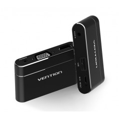 Vention - 3in1 USB Adapter to HDMI VGA Audio Video Converter - Audio adapters - V047-CB