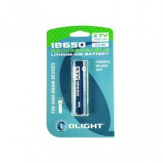 OLIGHT, Olight 2600mAh 3.6V 18650 Rechargeable Li-ion Battery for M-serie - Blister, Size 18650, NK378-CB