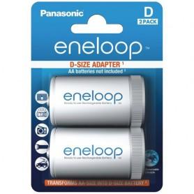 Panasonic, Panasonic Eneloop Adapter AA R6 to D Mono R20, Battery accessories, BS143-CB, EtronixCenter.com