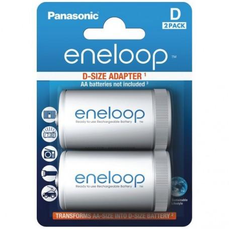 Panasonic - Panasonic Eneloop Adapter AA R6 to D Mono R20 - 2x Blister - Battery accessories - BS143-CB