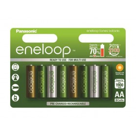Eneloop, AA 8-Pack Panasonic Eneloop Botanic Limited Edition, Size AA, NK266-CB, EtronixCenter.com