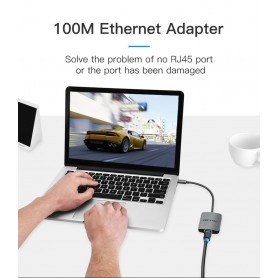 Vention, USB-C C Type USB C To RJ45 100Mbs Female Adapter, USB adapters, V051, EtronixCenter.com