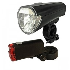 arcas - Arcas Bikelight set incl. 4x AA + 2x AAA batteries - Flashlights - BS145
