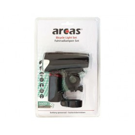 arcas, Arcas Bikelight set incl. 4x AA + 2x AAA batteries, Flashlights, BS145