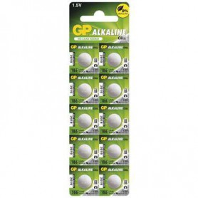 GP - GP 186A, LR43, AG12, D186, L1142, V12GA 1.5v Alkaline button cell battery - Button cells - BS148-CB