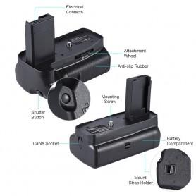 NedRo - Battery Grip compatible with Canon EOS 1100D 1200D 1300D / Rebel T3 T5 T6 DSLR - Canon photo-video chargers - AL1103