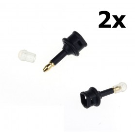 NedRo, 2 pieces Toslink To 3.5mm Mini Optical Jack Plug Audio Optical Adapter, Audio adapters, AL1009