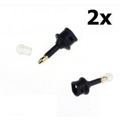 Oem - 2 pieces Toslink To 3.5mm Mini Optical Jack Plug Audio Optical Adapter - Audio adapters - AL1009