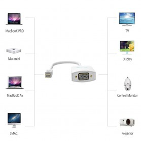 Vention, Mini Displayport Male to VGA Female Adapter Converter, DVI and DisplayPort adapters, V064, EtronixCenter.com