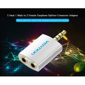 Vention, 3.5 mm Male to 2 x 3.5 mm Female Audio Splitter Adapter, Audio adapters, V067