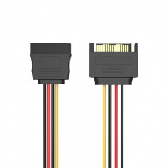 15-Pin Male to Female SATA hard disc cable power supply extension
