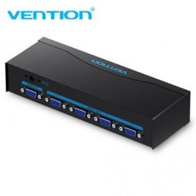 Vention, VGA Female Splitter Adapter 1 in 4 VGA Switcher Converter With Power Supply, VGA adapters, V082, EtronixCenter.com