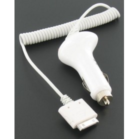 Car Charger For iPhone 3G/3GS/4 White 00347
