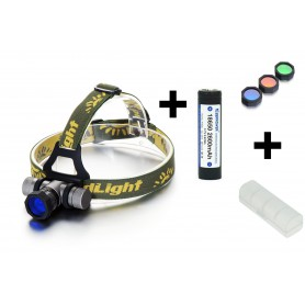 NedRo - 300-700Lm CREE XPE White Red Blue Green LED Headlight With Battery Included - Flashlights - HLP02