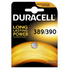 Duracell Watch Battery 389-390 / G10 / SR1130W 1.5V 85mA