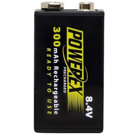 POWEREX - Powerex Precharged 8.4V 300mAh Rechargeable - Other formats - NK275-CB www.NedRo.us
