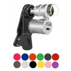 8MM 60X Zoom Microscope Magnifier with LED UV