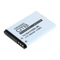 Battery for NOKIA 5140/6020/7260/5320 (BL-5B) 820mAh 3.7V Li-Ion