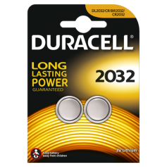 Duracell CR2032 3V lithium battery - 2 Pieces