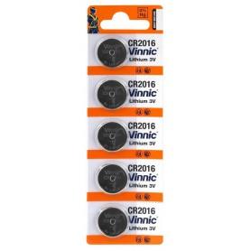 Vinnic - Battery Vinnic CR2016 6016 90mAh 3V (Blister of 5 pieces) - Button cells - BL282-CB