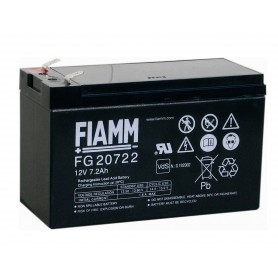Fiamm - Fiamm FG 12V 7.2Ah (6,3mm) 7200mAh Rechargeable Lead Acid Battery - Battery Lead-acid  - NK392