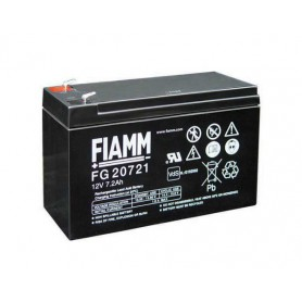 Fiamm, Fiamm FG 12V 7.2Ah (4,8mm) 7200mAh Rechargeable Lead Acid Battery, Battery Lead-acid , NK393, EtronixCenter.com