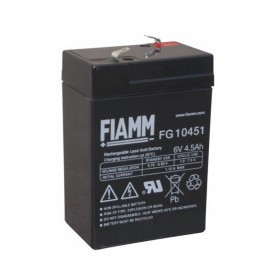 Fiamm - Fiamm FG 6V 4,5Ah 4500mAh Rechargeable Lead Acid Battery - Battery Lead-acid  - NK394 www.NedRo.us