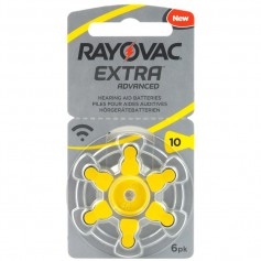 Rayovac Extra Advanced 10MF Hg 0% Hearing Aid Battery 1.45V
