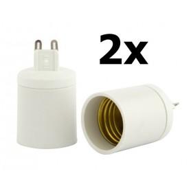 NedRo - G9 to E27 Socket Converter - Light Fittings - LCA02-CB www.NedRo.us