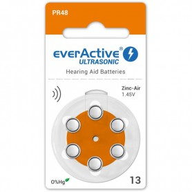 EverActive - everActive ULTRASONIC 13 1.45V Hearing Aid Battery - Hearing batteries - BL288-CB