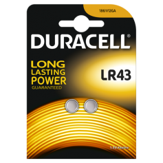 Duracell G12 / LR43 / 186 battery (Duo Blister)