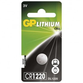 GP - GP CR1220 3V 40mAh lithium button cell battery - Button cells - BS277-CB