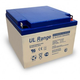 Ultracell - Ultracell UL-12-26 VRLA/Leadbattery UL 12V 26000mAh - Battery Lead-acid - BS283