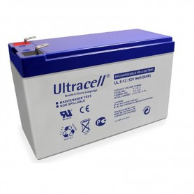 Ultracell - Ultracell UL9-12 12V 9Ah 9000mAh Rechargeable Lead Acid Battery - Battery Lead-acid  - NK401 www.NedRo.us