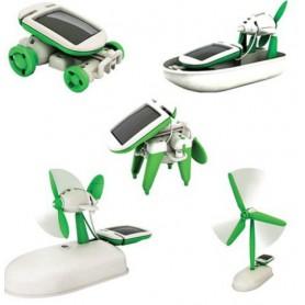 Oem - Solar Power 6 in 1 Toy Kit DIY Educational Robot Car Boat Dog Fan Plane Puppy - DIY Solar - AL1039