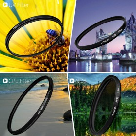NedRo, Andoer 77mm UV+CPL+FLD+ND(ND2 ND4 ND8) Photography Filter Kit Set, Photo-video accessories, AL305, EtronixCenter.com